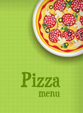 Menu background with pizza Stock Photography