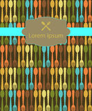 Menu background, Seamless pattern background Stock Images