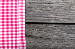 Menu background tablecloth textile. On wood Royalty Free Stock Photos