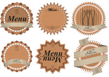 Menu badge Royalty Free Stock Photo