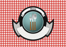 Menu badge Stock Photo