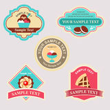 Menu badge. Several food badge for menu or restaurant Royalty Free Stock Photography