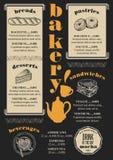 Menu bakery restaurant, food template placemat. Stock Photos