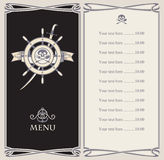 Menu bar with pirate Royalty Free Stock Photography