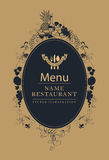 Menu in Baroque style Stock Image