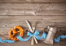 Menu for Bavarian specialties. Oktoberfest beer festival background. Menu for Bavarian specialties stock image