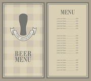 Menu with bee Stock Photography