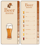 Menu for beer Royalty Free Stock Images