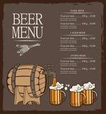 Menu for beer Stock Photo