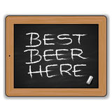 Menu - Beers on the blackboard Royalty Free Stock Image