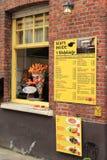Menu belga do restaurante Fotografia de Stock Royalty Free
