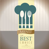 Menu the best choice Stock Image