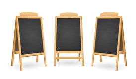Menu Black Board Isolated Set. Vector Stock Images