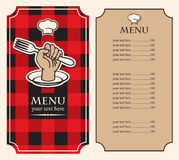 Menu on black red Stock Image