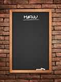 Menu blackboard Stock Photography