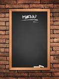 Menu blackboard Stock Images