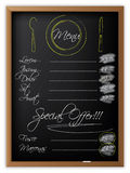 Menu on a blackboard Royalty Free Stock Photo