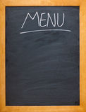 Menu blackboard Stock Image
