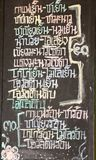 Menu blackboard. Thai word in Menu blackboard Royalty Free Stock Photography