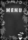 Menu blackboard Fotografia Royalty Free