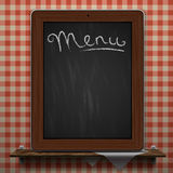 Menu blackboard background Royalty Free Stock Photography