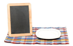 Menu blackboard Stock Photo