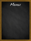 Menu blackboard with empty space. Menu blackboard with copy space Royalty Free Stock Photography