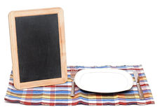 Menu blackboard Royalty Free Stock Image