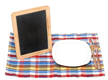 Menu blackboard Royalty Free Stock Photography