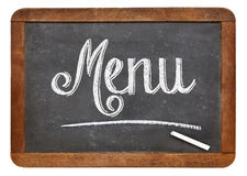 Menu blackboard sign Stock Image