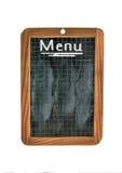 Menu on the blackboard Stock Photo