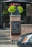 Menu. A blackboard menu on street Royalty Free Stock Image