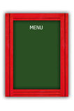 Menu board. Paint wooden menu board for food shop Royalty Free Stock Photos