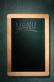Menu board. Stock image of the empty menu board Stock Photo