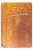Menu board Stock Image