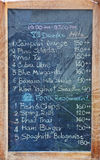 Menu board Stock Images