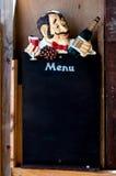 Menu board. Black menu board in bar Royalty Free Stock Photography