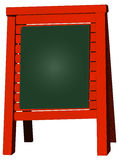 Menu board, blank blackboard, vector illustration Stock Photo