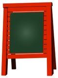 Menu board, blank blackboard, vector illustration Stock Photo