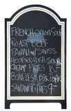 Menu board , isolated Stock Photos