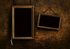 Menu board with old floral background Royalty Free Stock Photo