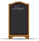Menu board outside a restaurant or cafe Stock Images