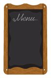 Menu board outside a restaurant or cafe Royalty Free Stock Photos