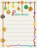 Menu board from raw pasta Stock Photos