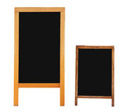 Menu boards. Two empty menu boards isolated over white. Clipping path included Royalty Free Stock Images