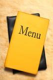 Menu book Stock Photos