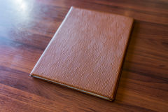 Menu book on table . Menu book on table Royalty Free Stock Image