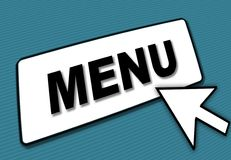 Menu box and arrow Royalty Free Stock Image