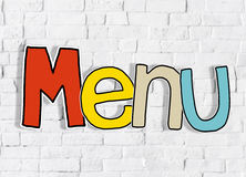 Menu Brick wall Single Word Text Background Clean Concept Royalty Free Stock Photography