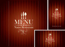 Menu and business card Stock Photo